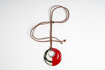 Picture of MIRÓ HORN PENDANT RED