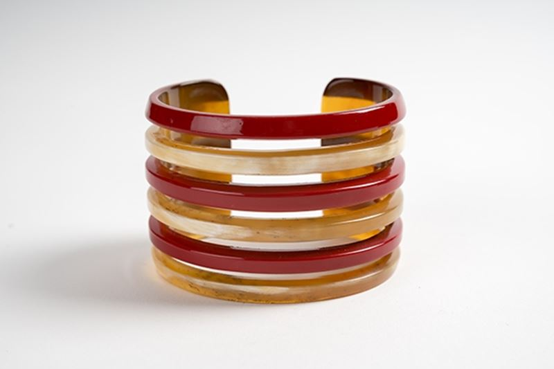 Picture of MIRÓ HORN BRACELET RED