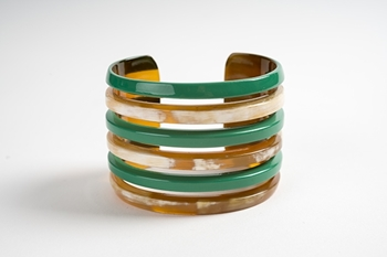 Picture of MIRÓ HORN BRACELET GREEN