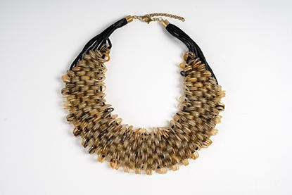 Picture of ZEBRA HORN BIB NECKLACE