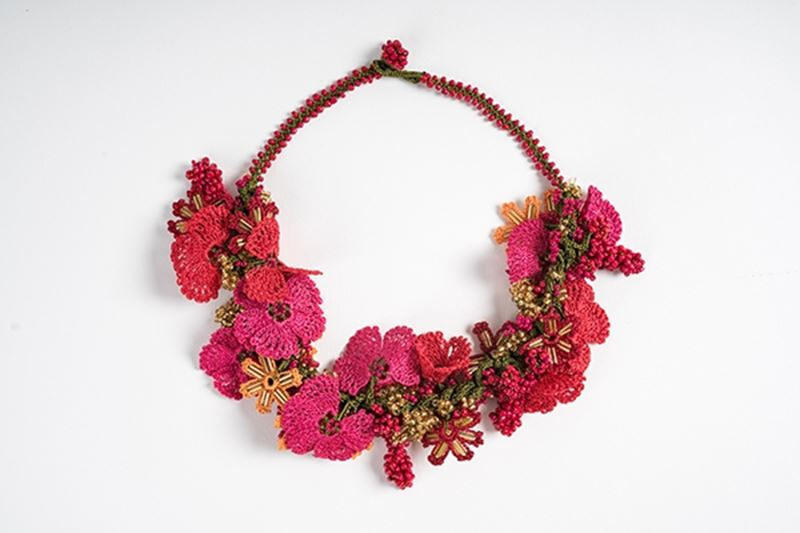 Picture of BOUQUET CROCHET RED NECKLACE