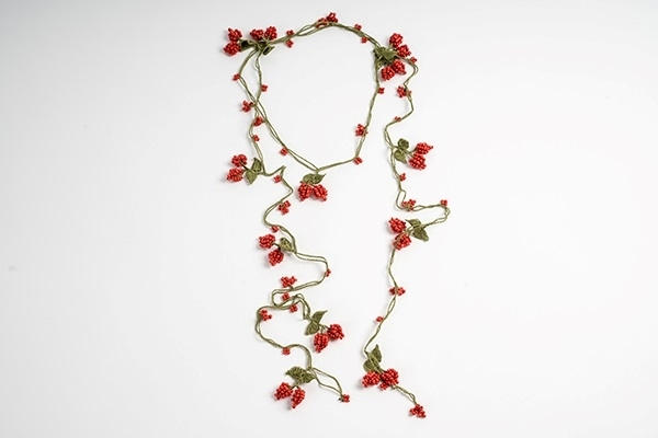 Picture of WRAP CHERRY LONG NECKLACE - RED