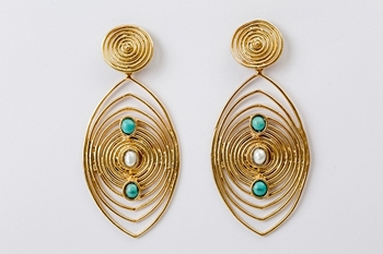 Picture of MASAI EARRING - TURQUOISE