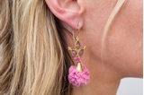 Picture of POMPON EARRING - PINK