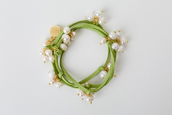 Picture of PEARL CHOKER BRACELET - GREEN