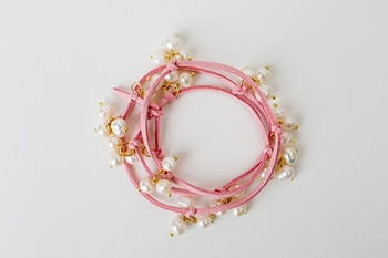 Picture of PEARL CHOKER BRACELET - PINK
