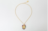 Picture of MEDAL NECKLACE - GOLD AND MULTICOLOR