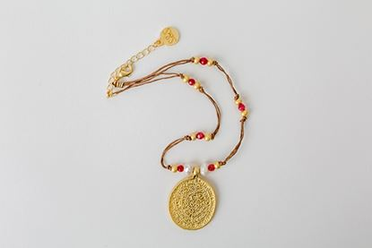 Picture of AZTECA MEDAL - RED