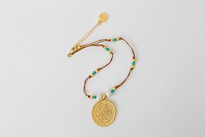 Picture of AZTECA MEDAL - TURQUOISE