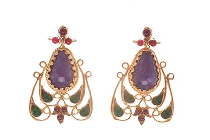 Picture of GAUDÍ EARRINGS PURPLE-GREEN