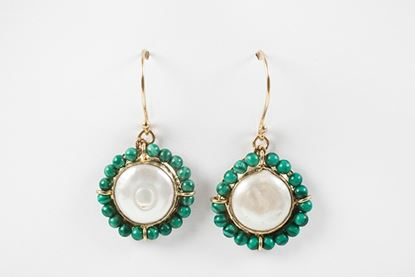 Picture of CATALINA EARRING MALACHITE