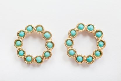 Picture of MINI BOTERO EARRING TURQUOISE