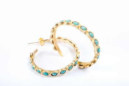 Picture of LOOP EARRING TURQUOISE