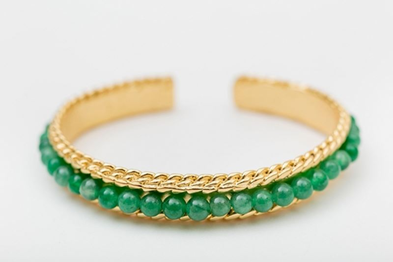 Picture of ROW BANGLE GREEN