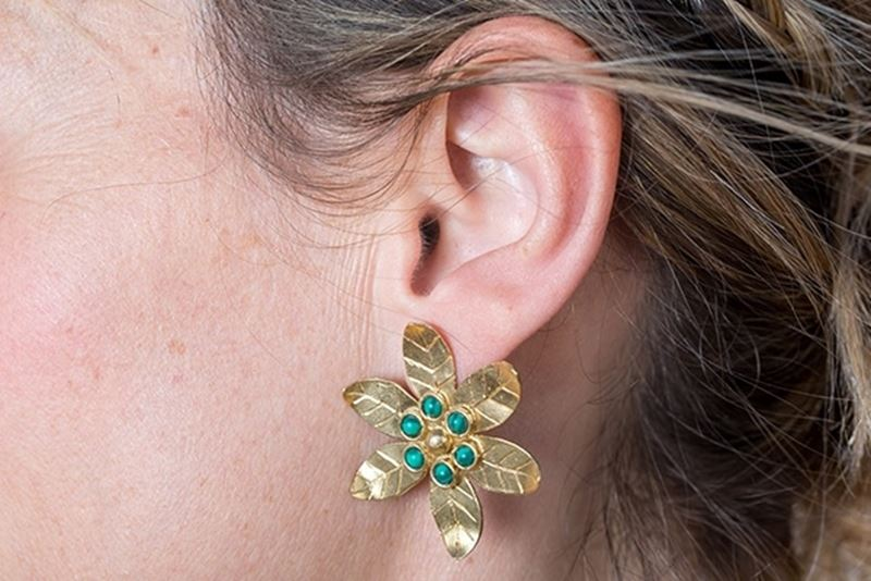 Picture of LILY EARRING MALACHITE