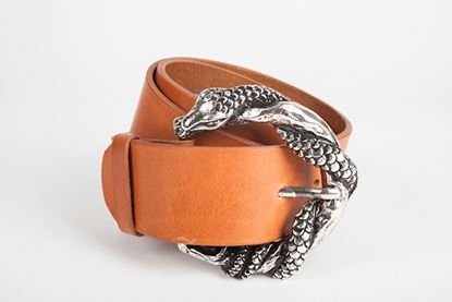 Picture of SNAKE BELT TAN - S