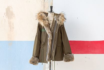 Picture of FUR MILITARY SHORT PARKA RABBIT/FOX