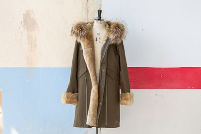 Picture of FUR MILITARY LONG PARKA RABBIT/FOX