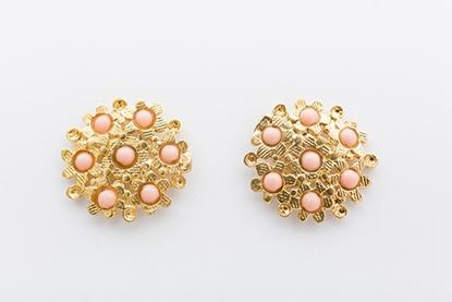 Foto de BLOSSOM EARRINGS- CORAL