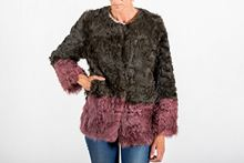 Picture of LAMB COAT GREEN & PINK - SIZE L