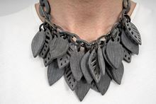 Picture of FOREST HORN NECKLACE - MATT GREY