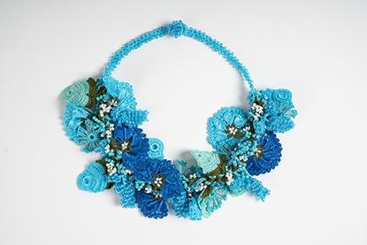 Picture of BOUQUET CROCHET BLUE NECKLACE