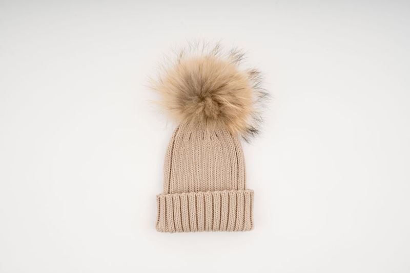 Picture of MINI POMPON HAT - CREAM