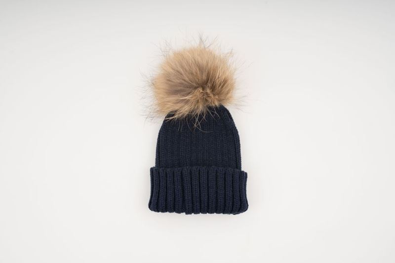 Picture of MINI POMPON HAT - NAVY BLUE