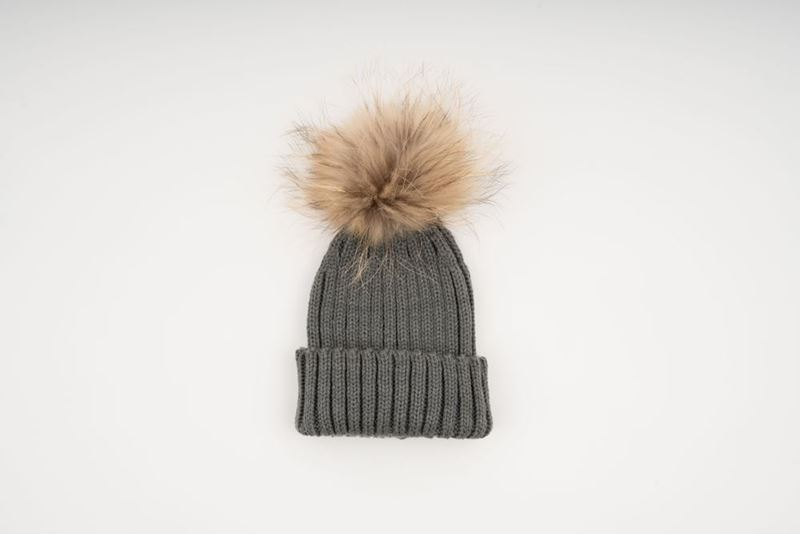 571976350a5 SPANISH AND SISTERS. SHOP. MINI POMPON HAT - GREY