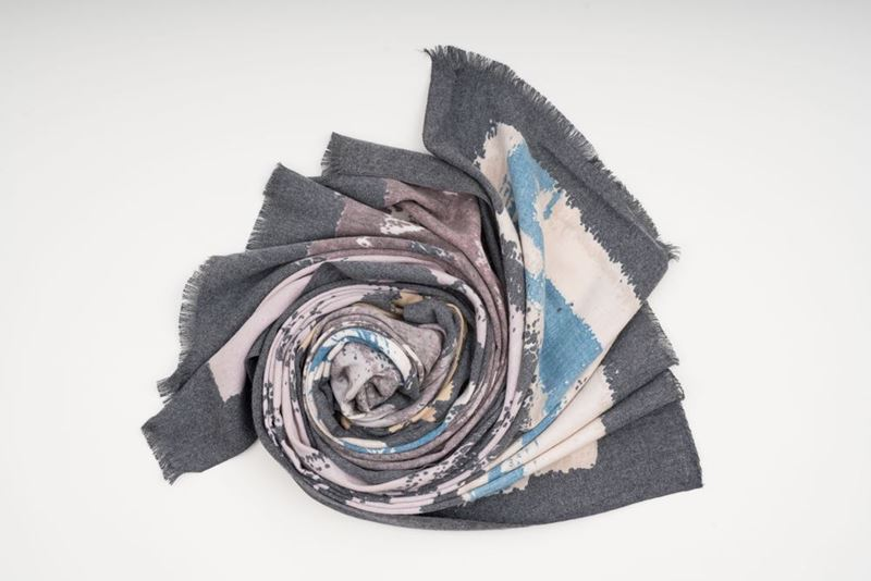 Picture of TIE DYE PASHMINA - GREY