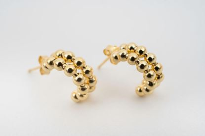 Picture of DOUBLE MINI HOOP EARRING - GOLD
