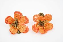Picture of 50´s FLOWER EARRING - ORANGE