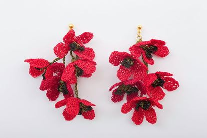 Picture of GLICINA EARRING - RED