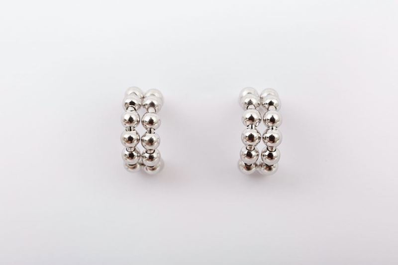 Picture of DOUBLE MINI HOOP EARRING - SILVER