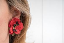 Picture of 50´s FLOWER EARRING - RED