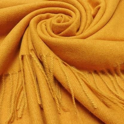 Foto de PLAIN WINTER SCARF - MUSTARD