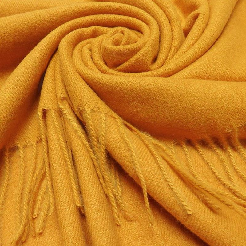 Picture of PLAIN WINTER SCARF - MUSTARD