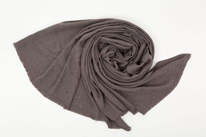 Picture of PASHMINA WITH CRYSTAL - BROWN