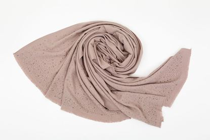 Picture of PASHMINA WITH CRYSTAL - PINK DUTY