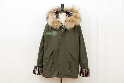 Picture of FUR MILITARY SHORT PARKA MINK/FOX