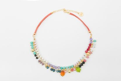 Foto de PUNTILLISTA NECKLACE - ORANGE
