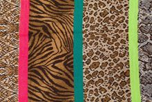 Picture of SCARF IN FLUOR AND ANIMAL PRINT