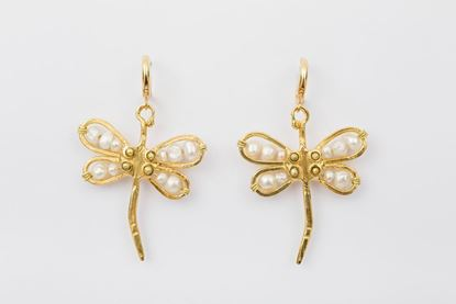 Picture of DRAGONFLY EARRING -PEARLS