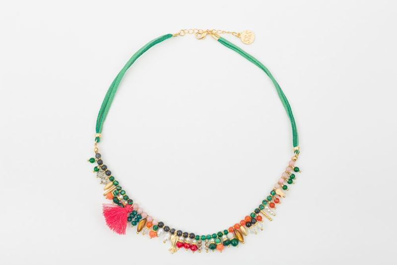 Picture of PUNTILLISTA NECKLACE - GREEN