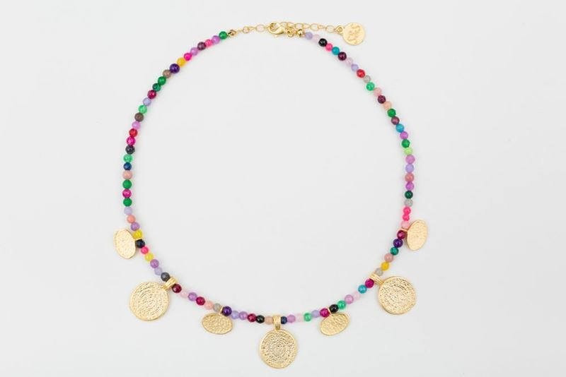 Picture of ORIENTAL SHORT NECKLACE MULTICOLOR