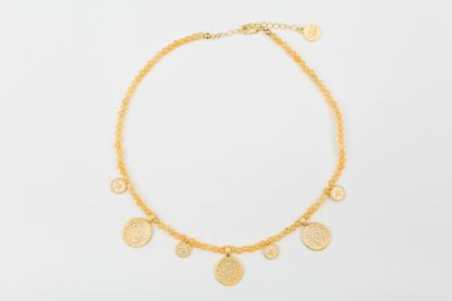 Picture of ORIENTAL SHORT NECKLACE YELLOW