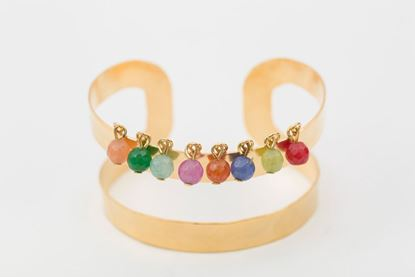 Picture of TWO LINE CUFF BRACELET - MULTICOLOR