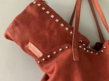Foto de WASHED SHOPPING LEATHER BAG - BROWN