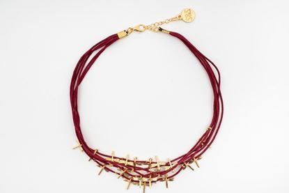 Foto de LITTLE DRAGONFLIES NECKLACE  - BURGUNDY