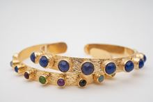 Picture of KATERINA'S BANGLE SET - THIN MULTICOLOR & BLUE NAVY
